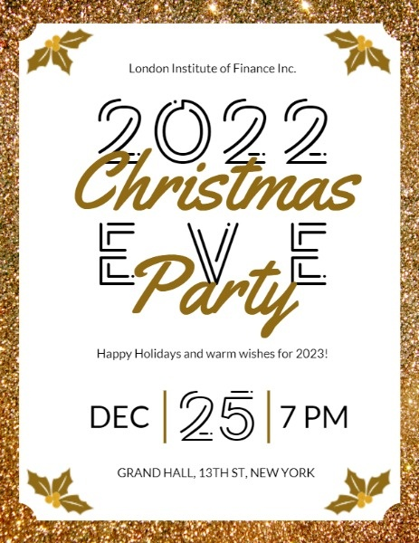 White Glitter Christmas Eve Party
