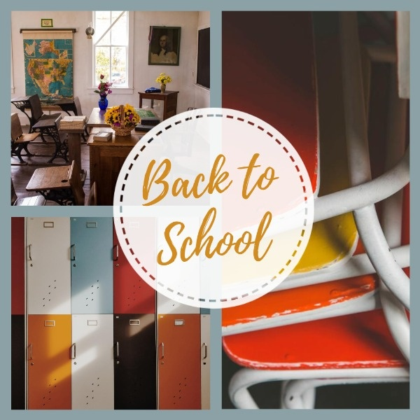 Back To School Collage Instagram Post Template
