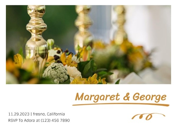 Fresh Reception Invitation Card