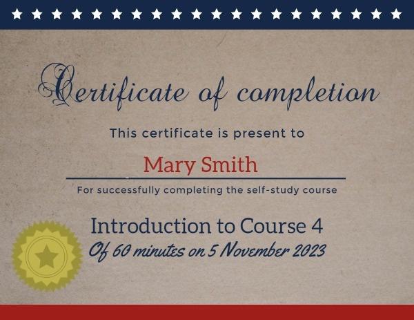 Vintage Best Employee Certificate