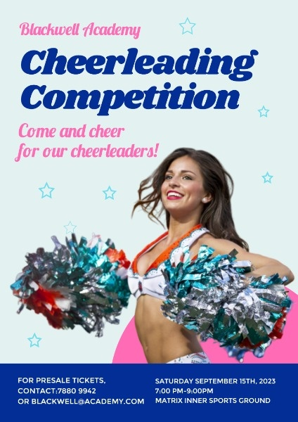 Blue Cheerleading Competition