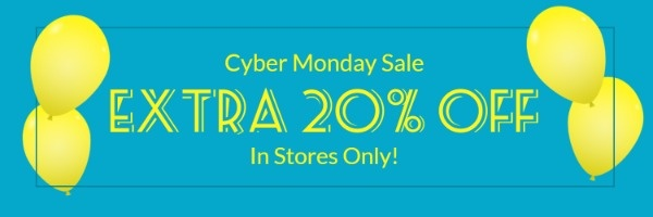 Blue Cyber Monday Discount Email Banner