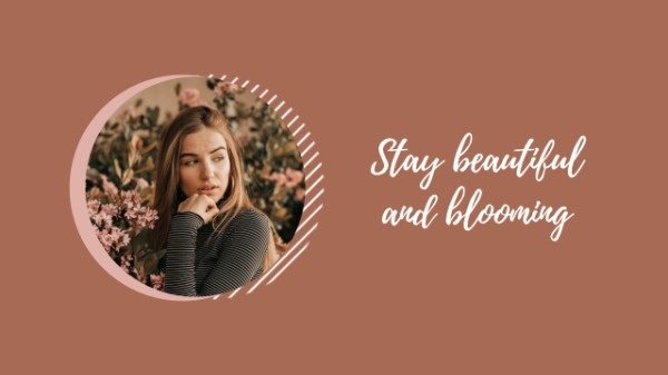 Brown Fashionable Girl Photo YouTube Channel Art Template