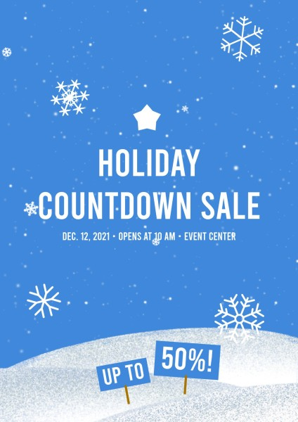 Blue Snow Christmas Sale