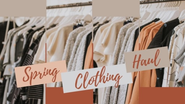 Orange Spring Clothes Vlog YouTube Channel Art Template