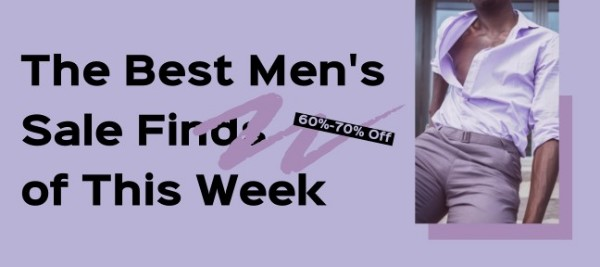 Purple Men's Sale