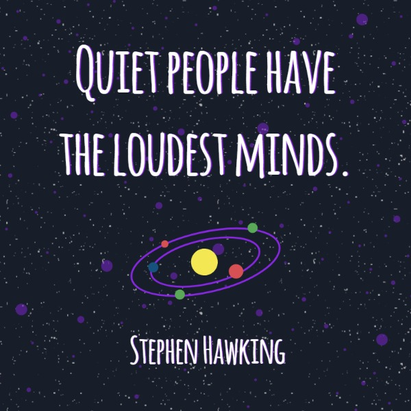 Hawking Quote Universe Instagram Template Online Instagram Post Extraordinary Instagram Quote Maker