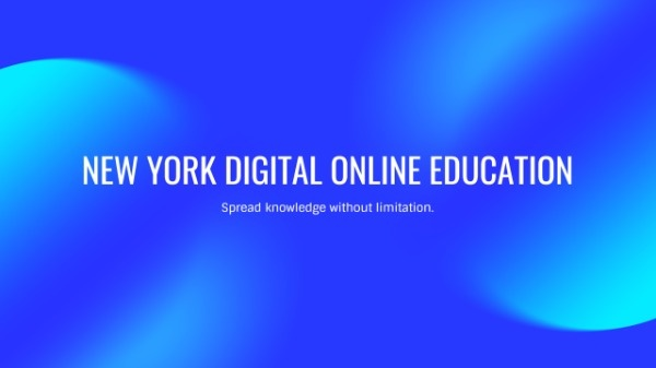 Online Blue Online Education Banner Youtube Channel Art Template Fotor Design Maker