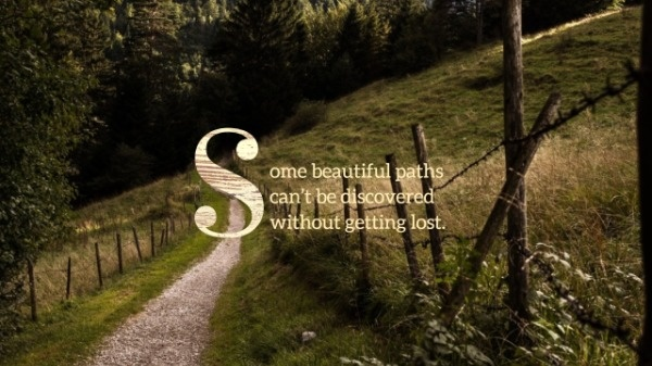 Mountain Path Inspirational Quote