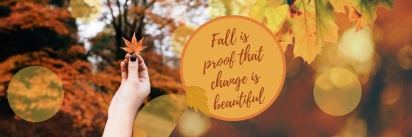 Yellow Fall Leaves Quote