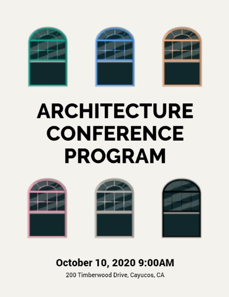 Architecture Conference Program Flow