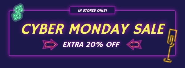 Purple Neon Cyber Monday Sale