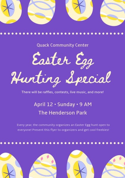 Purple Easter Egg Hunting
