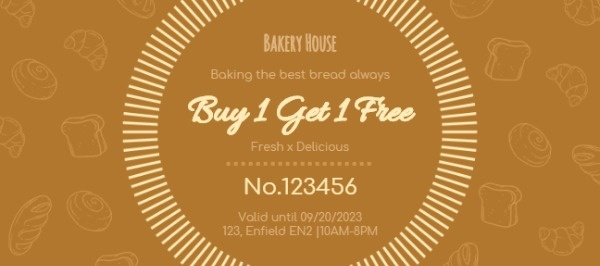 Bakery House Coupon