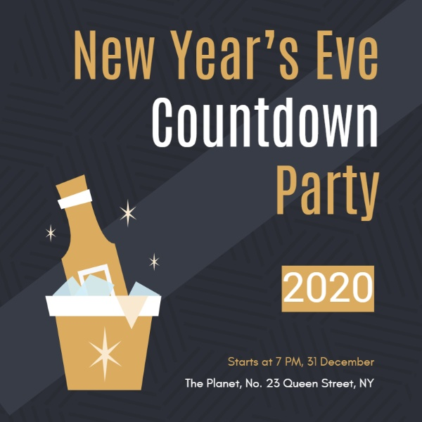 New year's eve countdown party invitation