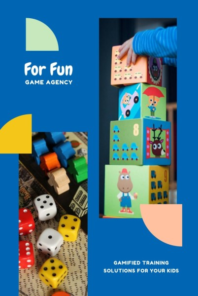 Blue Cartoon Game Agency