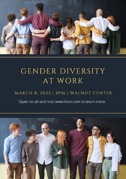 Black Gender Diversity At Work Poster