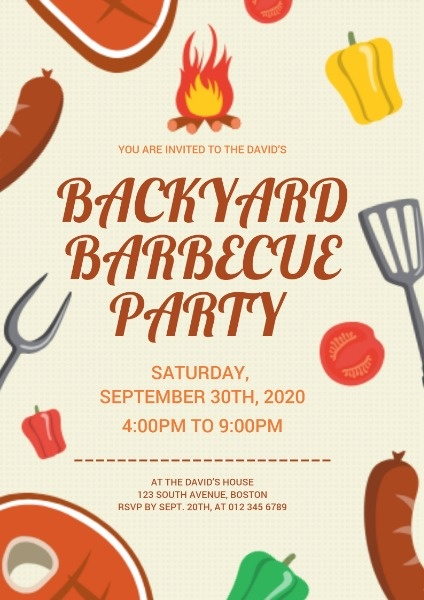Courtyard Barbecue Party