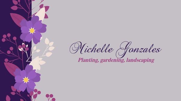 Purple Flower Gardening Banner