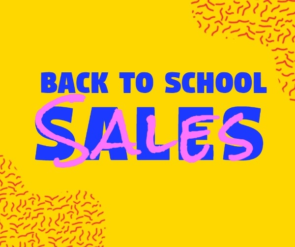 Yellow Color Background Of Back To School