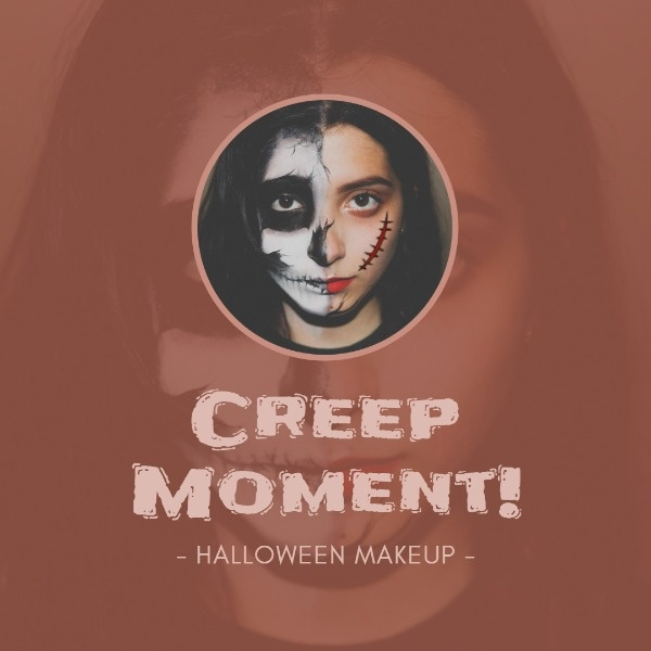 Reach the next level with Fotor's Halloween Makeup Tutorials Instagram template