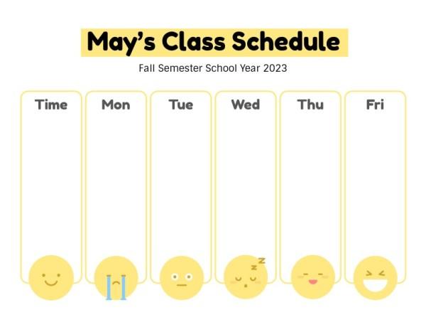 26class schedule_lsj