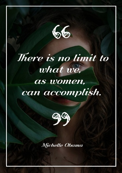 Black Limitation For Women Quote