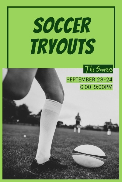 Dark Soccer Tryout Post