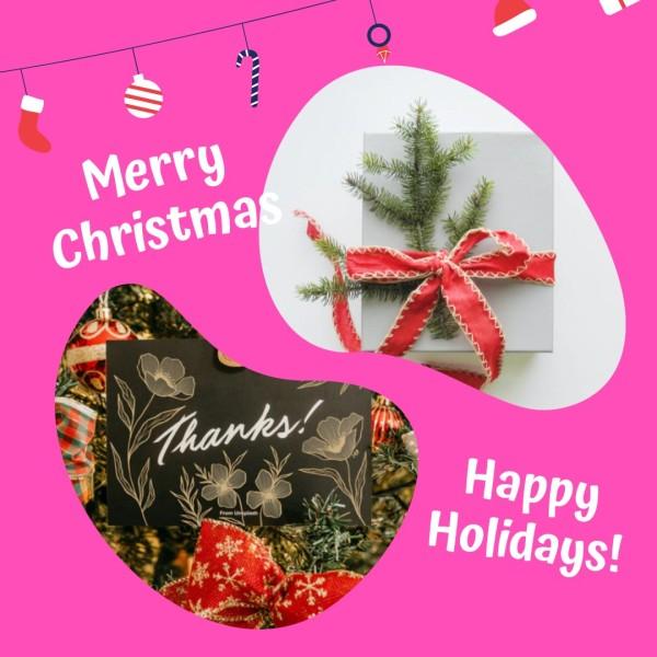 Pink Christmas Bakery Instagram Post