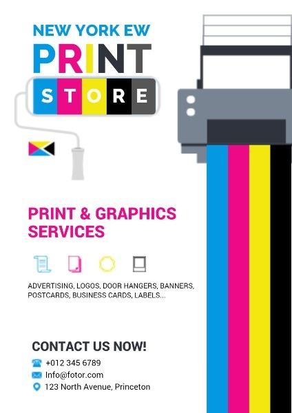 Printing Service Poster