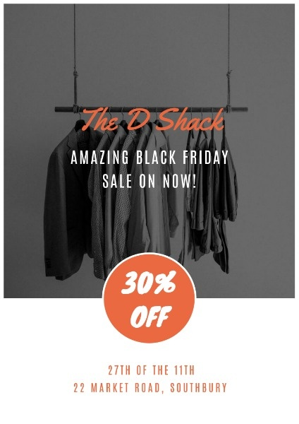 Dark Friday Sale Clothes Store