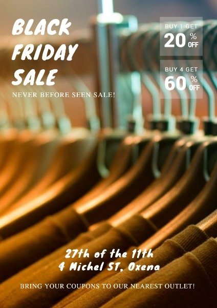 Clothes Store Black Friday Sale