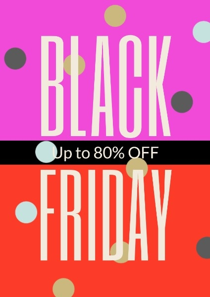 Red Black Friday Super Sale