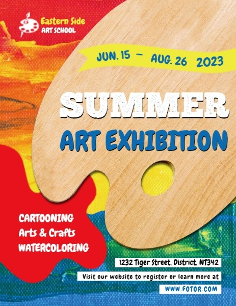 Watercolor Summer Art Exhibition