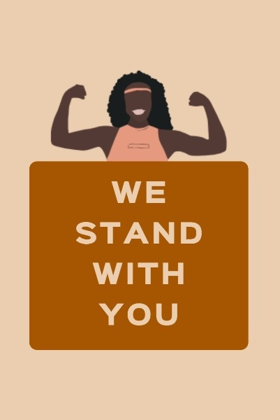 We Stand With You Quote