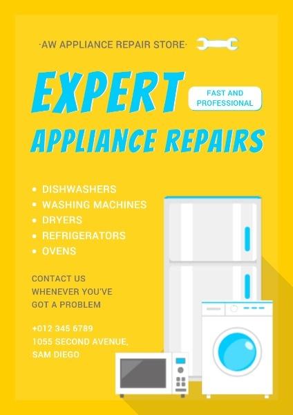 Appliance Maintenance Service Poster