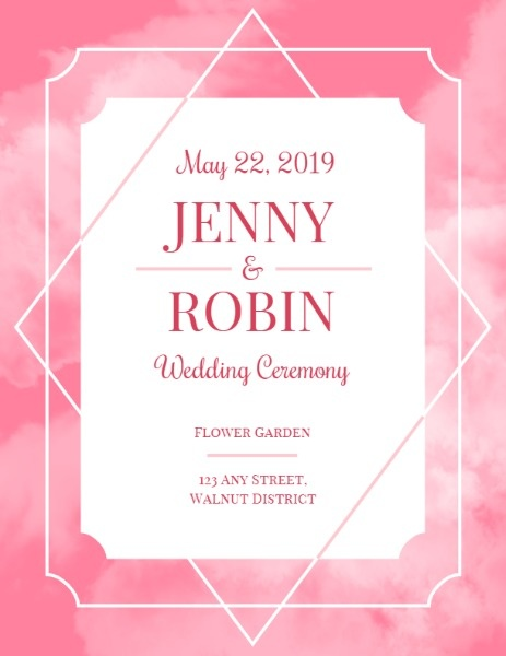 Wedding Ceremony Party Invitation