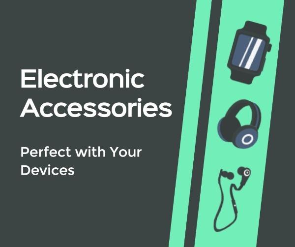 Online Electronics Accessories Banner Ads Facebook Post Template Fotor Design Maker