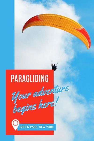 Blue Background Of Paragliding Travel