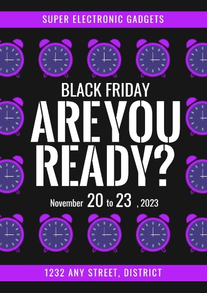 Purple And Black Electronics Gadget Black Friday Sale