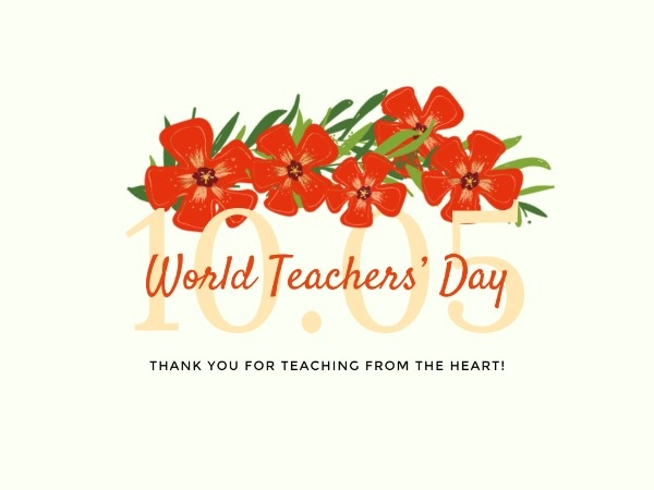 Floral World Teacher's Day