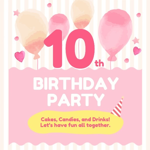 Sweet 10th Birthday Party