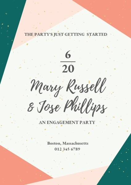 Patchwork Engagement Invitation