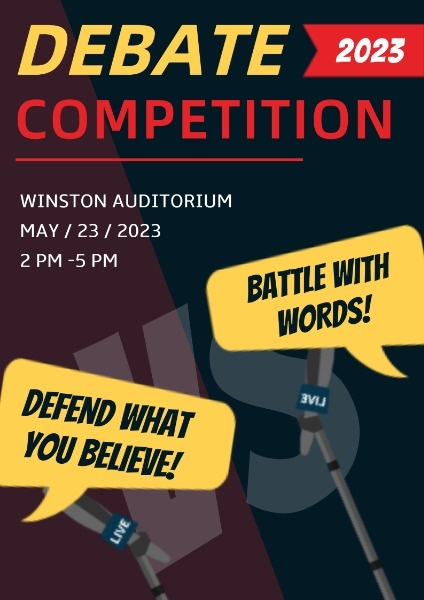 University Debate Competition Event
