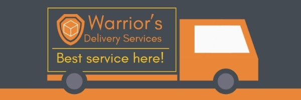 Black And Yellow Delivery Service Banner