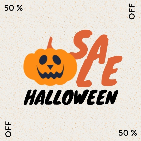Simple White Pumpkin Halloween Sale