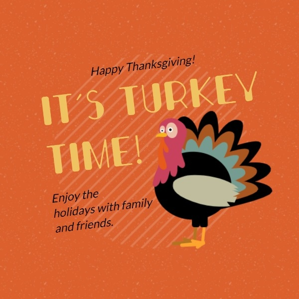Orange Turkey Wishes Quote
