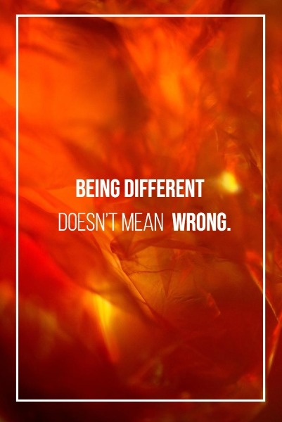 Red Being Different Quote