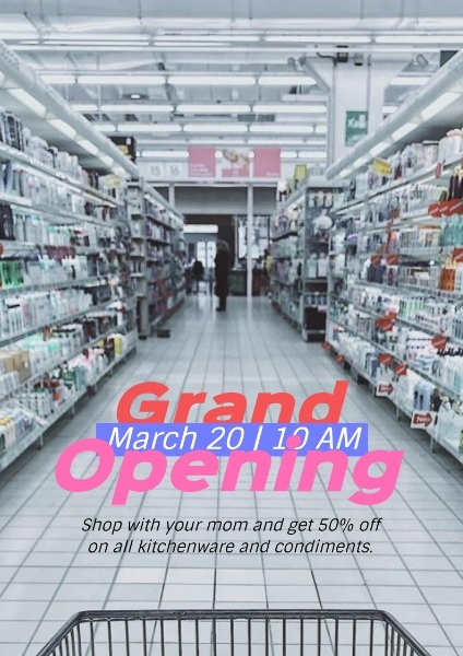 Market Grand Opening Sale