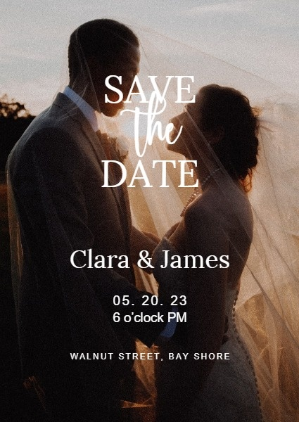 Sate The Date Wedding Invitation